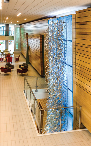 Eccles Business Building Waterfall